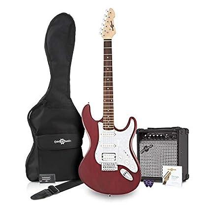 Guitarra Eléctrica LA II HSS + Pack de Ampli - Trans Red