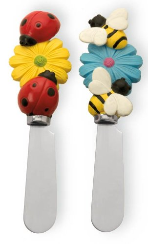 Boston International Cheese Spreaders, Happy Garden, Set of 2 Ideal Home Range BIP14010