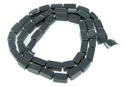Black Onyx Loose Stone Plain Cube Beads Strand Opaque Fancy