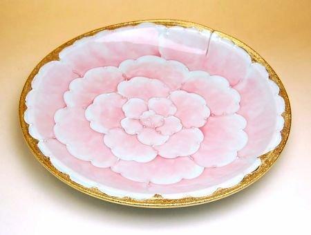 【有田焼】金濃ピンク牡丹 尺皿 192065 【サイズ】径30cm×高さ5.1cm   B00VYLYHPI