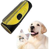 Demattningskam för husdjur, 3-i-1 husdjursskötselverktyg dubbelsidig blad husdjursunderpälsborste med massageeffekt…