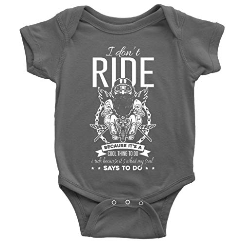 It's A Cool Thing To Do Baby Bodysuit, I Don't Ride Cute Baby Bodysuit (NB, Baby Bodysuit - Dark Gray) ()