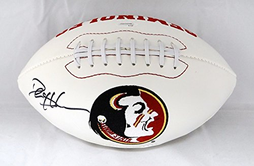 Deion Sanders Autographed Football (Deion Sanders Autographed Florida State Seminoles Logo Football- JSA W Auth)