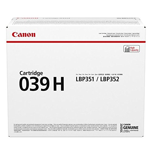 Canon CNMCRTDG039H CRG-039H High Yield Black Toner Cartridge for LBP351/352 by Canon