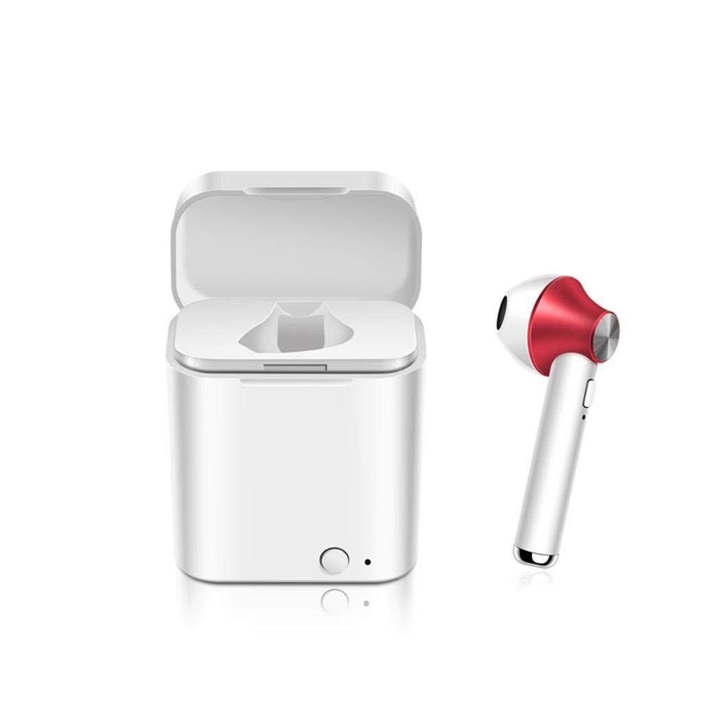 Halffle Bluetooth Wireless Single Headset Mini Sports Single Earphone Headphone with Charging Box