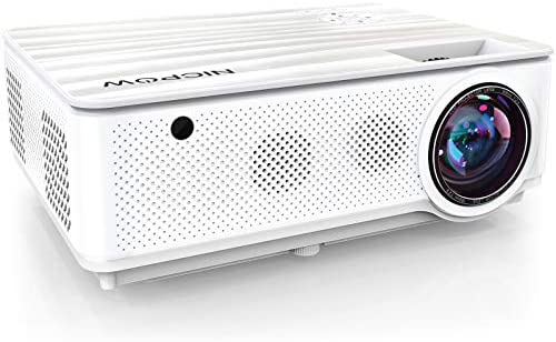 Native 1080P Projector,NICPOW 7200L Full HD Video Projector,±40° 4D Keystone Correction,Outdoor Movie Projector with Max 300″ Display&50% Zoom,Compatible with TV Stick, PS4, HDMI,VGA,AV and USB
