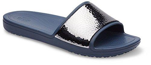 Slide Navy Hammered Met Sandal Crocs Sloane WoMen W Navy 14qnv