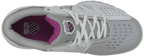 K-Swiss Women's Bigshot Light Tennis Sports Shoes Blanc (White/Gull Gray/Magenta) nHk8GRVqbA