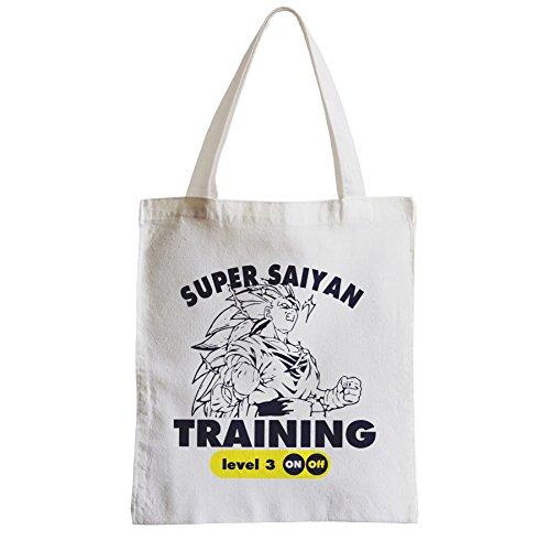 Grande Borsa Shopping Shopping Spree Beach Formazione Degli Studenti Super Sayan Livello 3 Dragon Ball Z Dbz Manga Goku