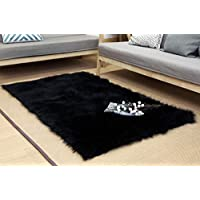Dikoaina Thick Faux Sheepskin Area Rug Rectangle Sheepskin Area Rug Plush Premium Shag Faux Fur Shag Runner (2x3 Feet)