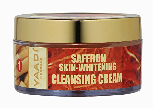 Saffron Sandal Cleansing Cream with Lemongrass Oil & Orange Peel Extract Herbal Facial Cleansing Cream - ★ ALL Natural - ★ Paraben Free - ★ Sulfate Free - ★ Suitable (Herbal Oily Skin Moisturizer)