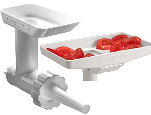 KitchenAid KSMGBC Food/Meat Grinder Attachment with Sausage Stuffer Kit and  Food Tray