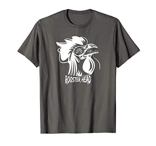 Rooster Head T-shirt #2 barnyard brave birds