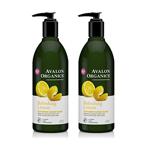 Avalon Organics Organic Massage Oil (Avalon Organics Glycerin Hand Soap Lemon With Lemon Essential Oil, Chamomile, Aloe and Vitamin E, 12 fl oz (355 ml) (Pack of 2))