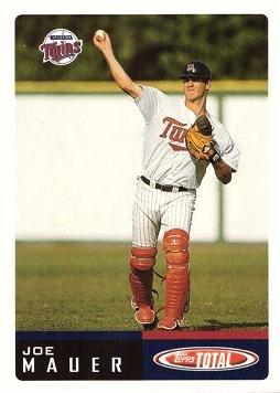 2002 Topps Total Baseball #1 Joe Mauer Rookie Card