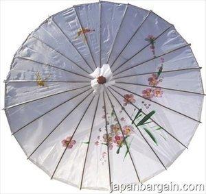 JapanBargain 2166 White Parasol, 32-inch,