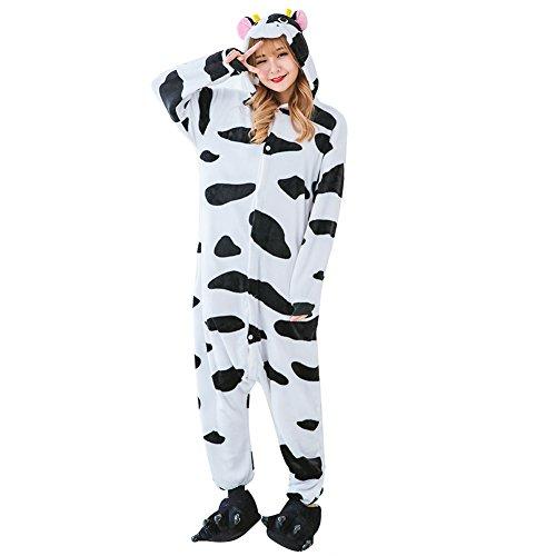 Animal Onesies Adult Costumes One Piece Pajamas for Men Women Unisex Teens Cow S
