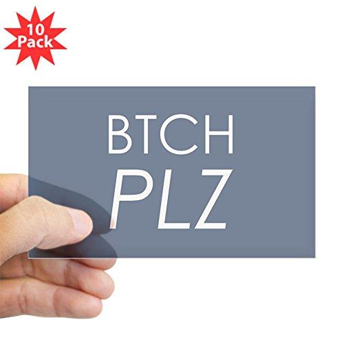 (Sticker Clear (Rectangle 10Pk) Btch Plz Bitch Please Haute Couture)