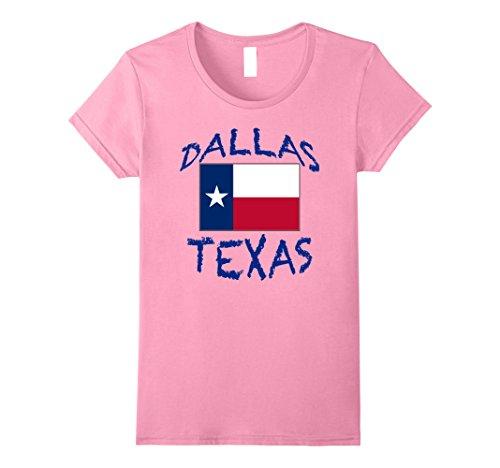 - Womens Souvenir Dallas Texas T-Shirt Large Pink