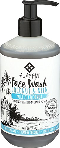 everyday coconut face wash, clean face wash, alaffia face wash, coconut face wash, everyday face wash, alaffia cleansing coconut shampoo