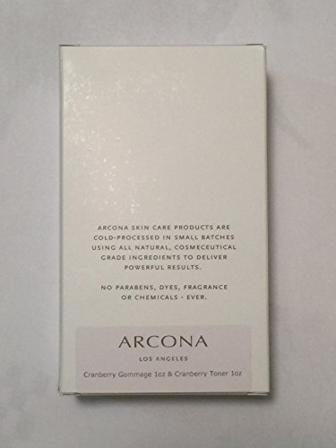 Arcona Cranberry Gommage 1oz and Toner Set 1 oz