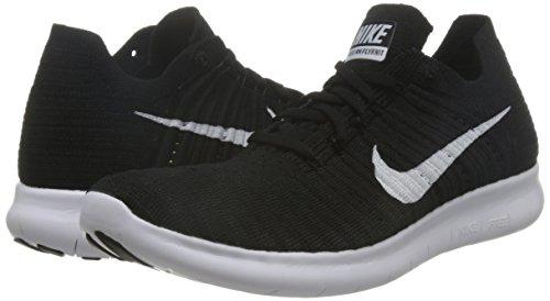 black Nike Para Free Running Flyknit White Blanco Zapatillas Mujer De Run qzwqP