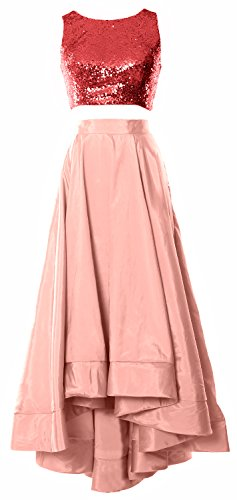 MACloth -  Vestito  - linea ad a - Senza maniche  - Donna Red-Blush Pink 40