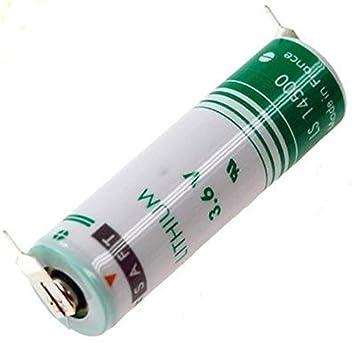 Saft LS14500 - 2PF batería de Litio Mignon 3,6 V AA con Soldadura en 2 de Print Metal: Amazon.es: Electrónica