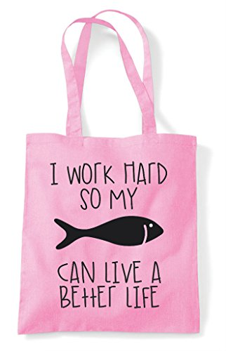 Fish A Bag Funny Hard Light Work Themed Life Have Can My Cute Better Animal Shopper Tote So Pink I ZCRqPI0
