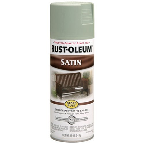 Rust-Oleum 7720830 Satin Enamels Spray, Sage, 12-Ounce