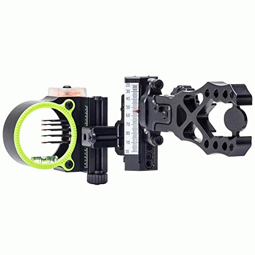 - Black Gold Ascent Verdict Assault Archery Sight-Black/Right Hand Adjustable-Black/ 5 Pin/ .019