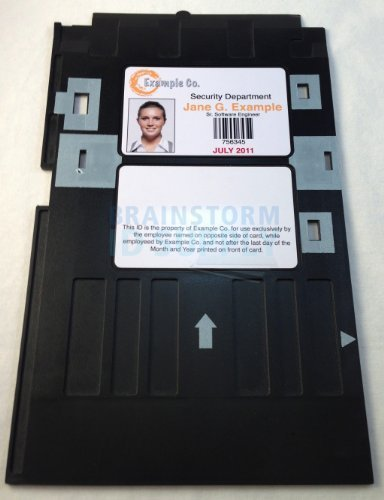 PVC ID Card Tray for Epson R280, Artisan 50, R260, R265, R270, R290, R380, RX580, RX595, RX680, P50, and T50 by Brainstorm ID