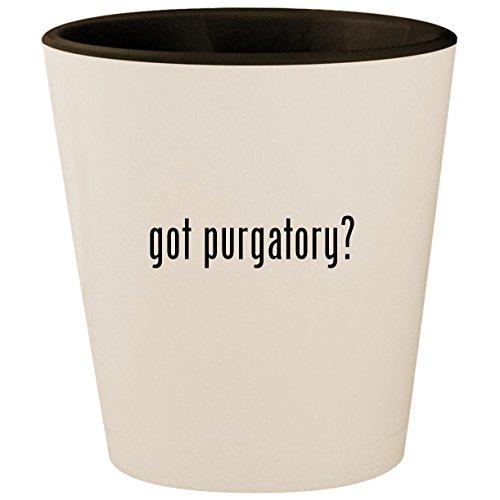 got purgatory? - White Outer & Black Inner Ceramic 1.5oz Shot Glass