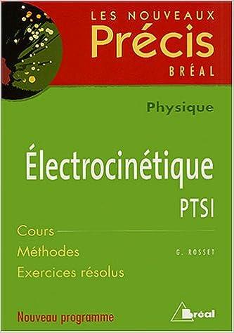 PRECIS PDF TÉLÉCHARGER ELECTROCINETIQUE
