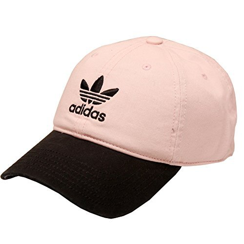 adidas Originals Men's Relaxed Strapback Cap (Icey Pink/Black, One Size)