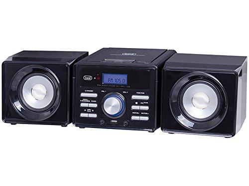 Trevi HCX 1030 S HiFi CD Player Negro - Unidad de CD (MP3, 10 W, FM, HiFi CD Player, Negro, CD)