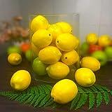 COTOSEY Yellow Lemon Fake Fruit House Kitchen Party Decoration Children Toys Artificial Lifelike Simulation Fruit