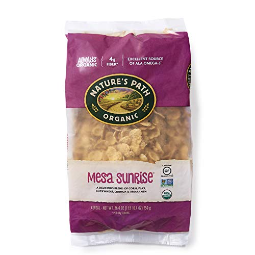 - Nature's Path Mesa Sunrise Cereal, Healthy, Organic & Gluten Free, 26.4 Ounce Bag (Pack of 6)