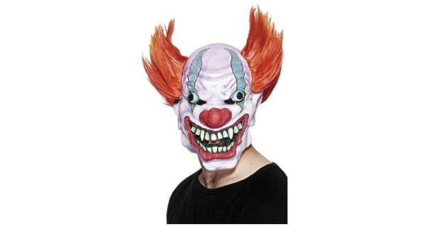 Careta Látex Halloween | Máscara de Payaso Asesino | Mascarilla Bufón Malo | Antifaz Arlequín Malvado: Amazon.es: Juguetes y juegos