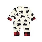 Mikrdoo 0-24M Baby Clothes Long Sleeve Romper Jumpsuits Bear Bodysuits Outfits (0-6 Months)