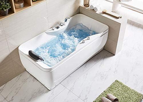Acrylic White DP HOME 59 In Whirlpool Tub DK-Q348 Freestanding ...
