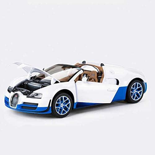 YN モデルカー シミュレーション車の合金シミュレーションブガッティヴェイロンおもちゃスポーツカー1:18車のモデル装飾趣味子供のおもちゃアダルトコレクションお土産 ミニカー (Color : White)