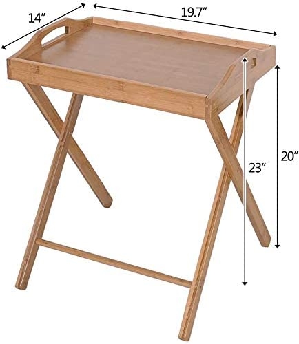 Bamboo Breakfast Tray Table Side Snack Coffee Table Small Side Table For Home Office Goujxcy Folding Serving Table Tv Tray Table Kitchen Dining Storage Organization