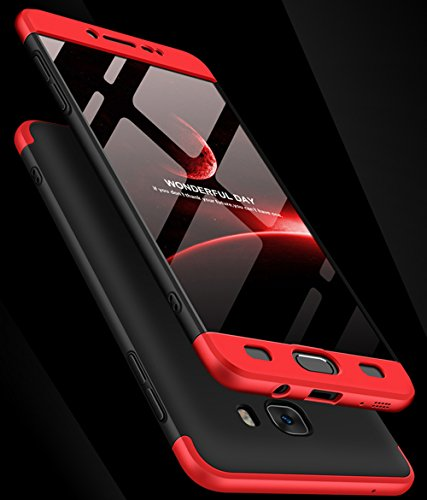 Galaxy C9 Pro Case, Ranyi [Full Body 3 in 1] [Slim & Thin Fit Tightly] [360 Degree Protection] Premium Hybrid Bumper 3 in 1 Electroplated Hard Case for Samsung Galaxy C9 Pro (r/b/r)