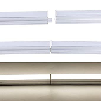 6500K Ceiling Light and Under Cabinet Light Corded Electric with Built-in ON//Off Switch 4FT Utility led Shop Light Onlylux LED T5 Integrated Single Fixture Super Bright White Pack of 4