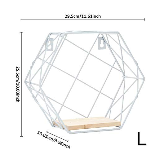 Linker Wish Hanging Rope Shelf Wall Hemp Rope Partition Innovative Wall Hanging Hexagonal Iron Shelf Bedroom Bathroom Living Room Home Decoration Storage Shelf4