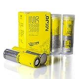 4 PCS MXJO 3000mAh 35A Battery - High Drain Li-ion with Battery Organizer