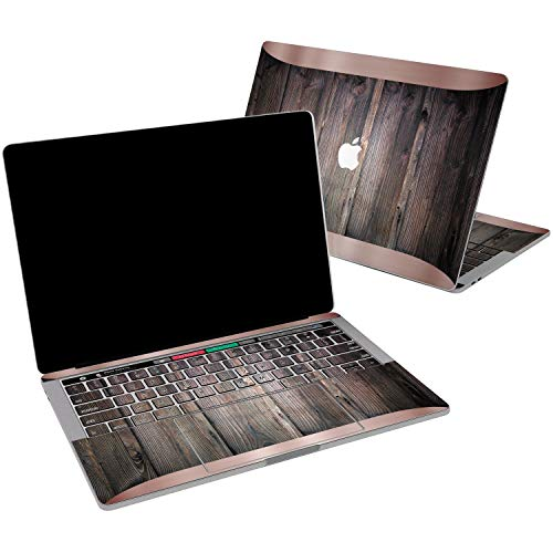 - Lex Altern Vinyl Skin for MacBook Air 13 inch Mac Pro 15 Retina 12 11 2019 2018 2017 2016 2015 Wooden Style Texture Rose Gold Frame Luxury Ebony Wrap Laptop Cover Protective Decal Sticker Touch Bar
