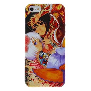 Anime Style Sweet Lovers Pattern Shimmering TPU Case for iPhone 5/5S