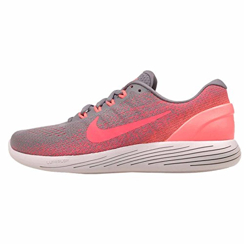 0e4314fe6d83 Galleon - Nike Women s Lunarglide 9 Running Shoe Gunsmoke Solar Red Hot  Punch Vast Grey Size 9 M US